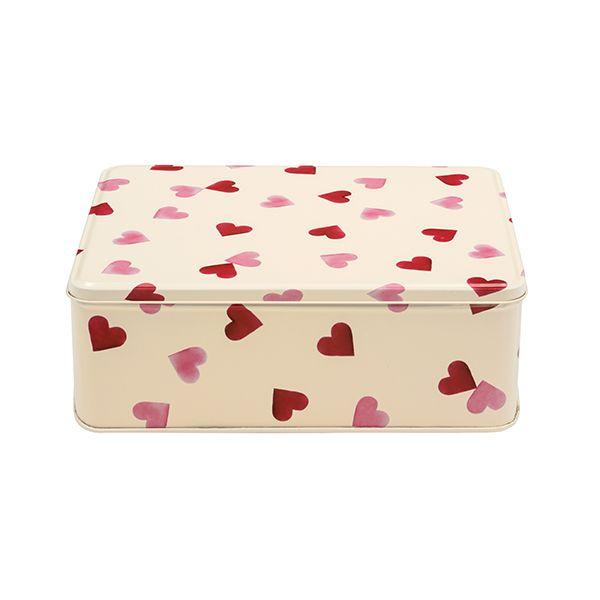 Emma Bridgewater Pink Hearts Deep Rectangular Tin