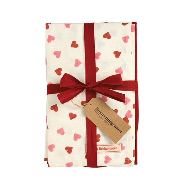 Emma Bridgewater Pink Hearts Oven Glove & Tea Towel Set