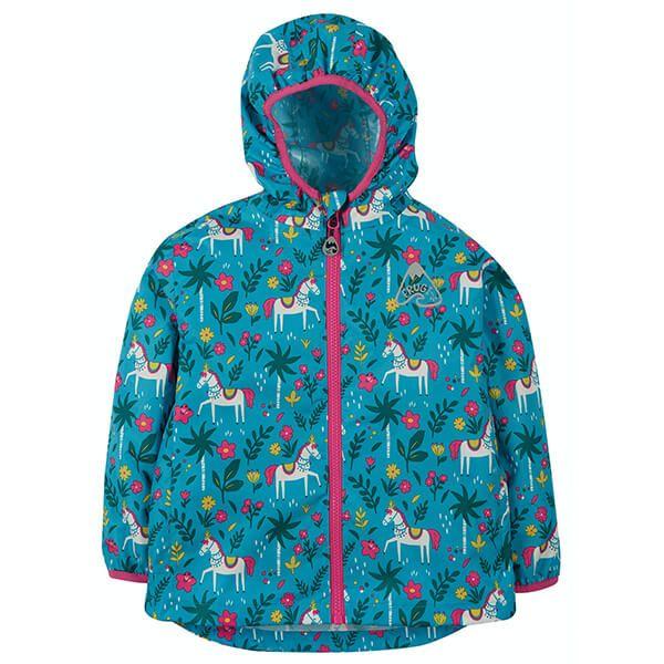 Frugi Organic Teal Indian Horse Rain Or Shine Jacket