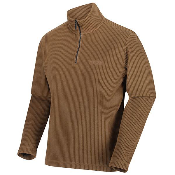 Regatta Dark Camel Elgrid Half Zip Mid Weight Fleece
