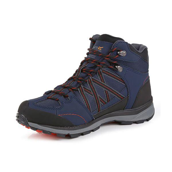 Regatta Men's Samaris II Mid Walking Boots Navy Burnt Salmon