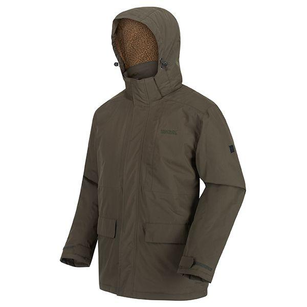 Regatta Dark Khaki Penryn Waterproof Insulated Hooded Jacket