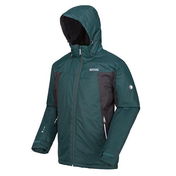 Regatta Deep Pine Matt Lightweight Waterproof Jacket With Concealed Hood