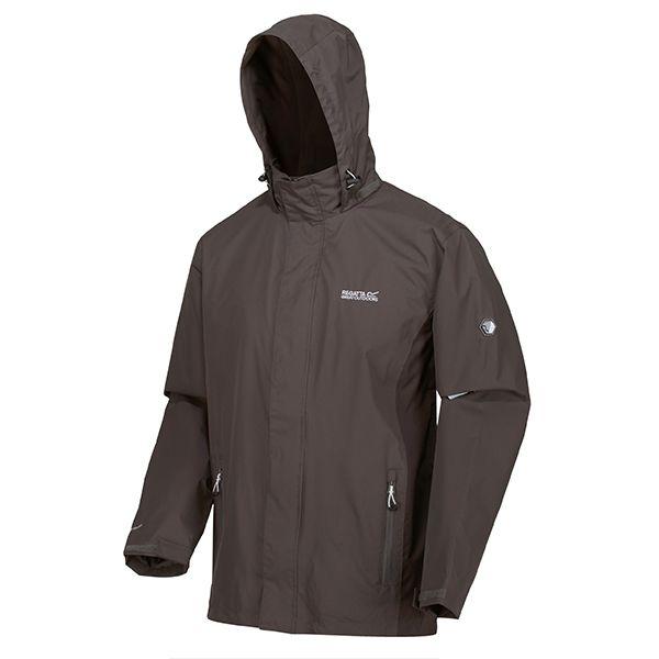 Regatta Magnet Ash Matt Lightweight Waterproof Jacket With Concealed Hood