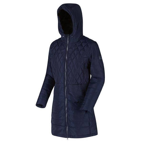 Regatta Navy Parmenia Insulated Quilted Hooded Parka Jacket