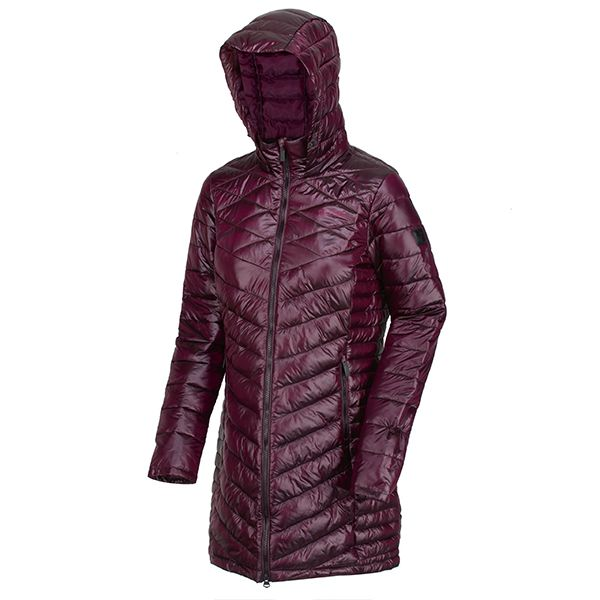 Regatta Prune Andell II Lightweight Insulated Quilted Hooded Parka Walking Jacket