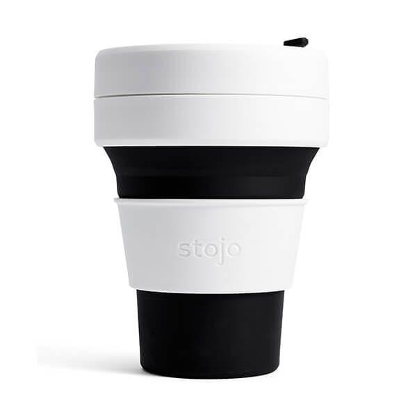Stojo Black Collapsible Pocket Cup 12oz/355ml