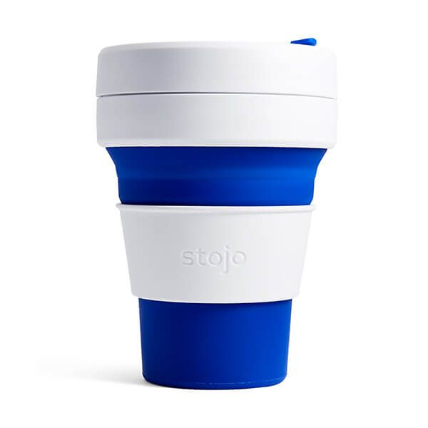 Stojo Blue Collapsible Pocket Cup 12oz/355ml