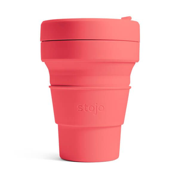 Stojo Brooklyn Coral Collapsible Pocket Cup 12oz/355ml