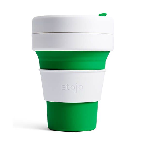 Stojo Green Collapsible Pocket Cup 12oz/355ml