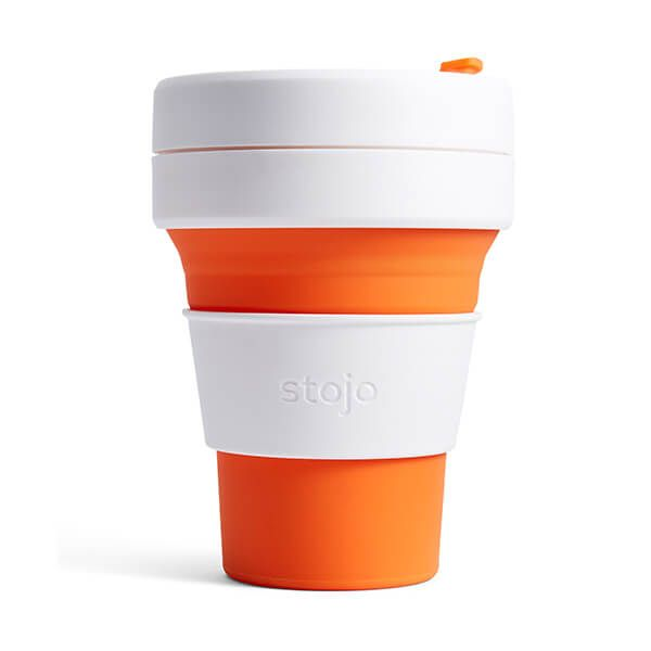 Stojo Orange Collapsible Pocket Cup 12oz/355ml