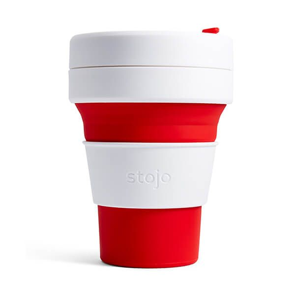 Stojo Red Collapsible Pocket Cup 12oz/355ml