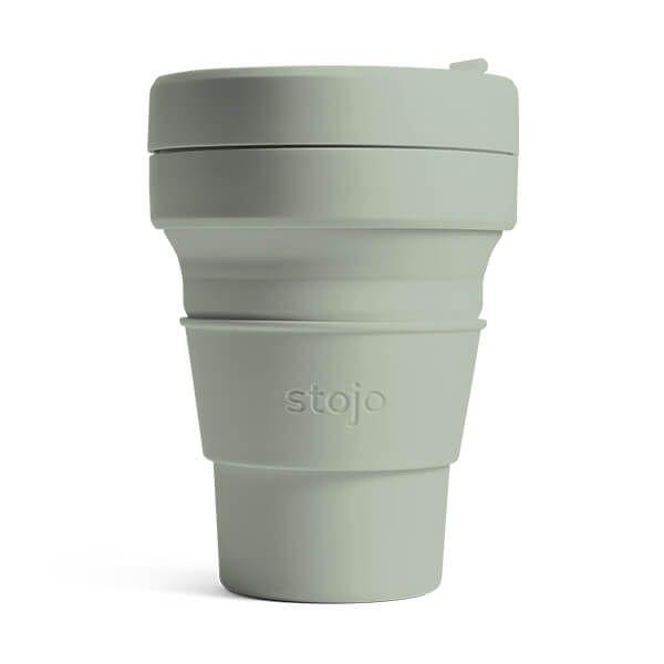 Stojo Brooklyn Sage Collapsible Pocket Cup 12oz/355ml