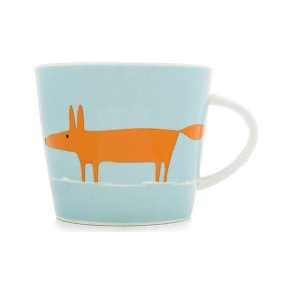 Scion Living Mr Fox Duck Egg & Orange 350ml Mug