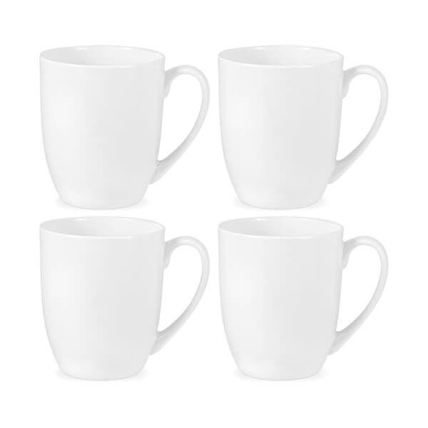 Royal Worcester Serendipity White Set of 4 Barrel Shape Mugs