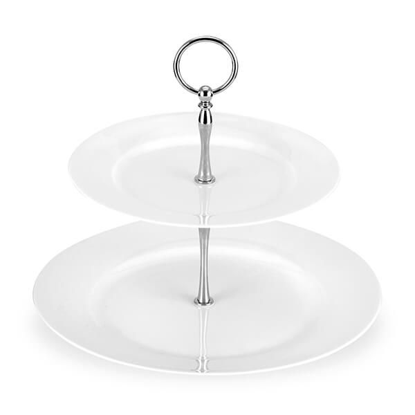 Royal Worcester Serendipity White 2-Tier Cake Stand