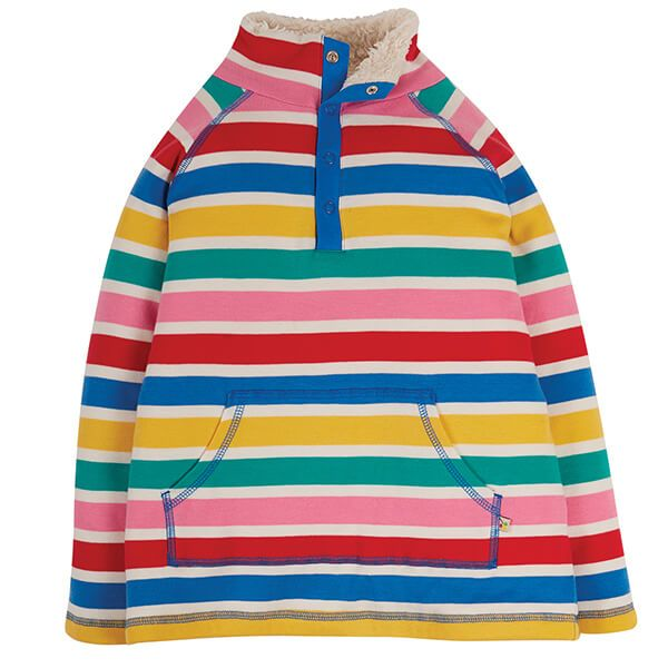 Frugi Organic Rainbow Multi Stripe Snuggle Fleece