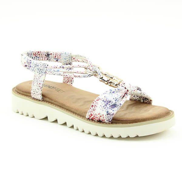Heavenly Feet White Lilly Ladies Premium Sandals