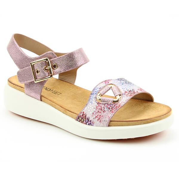 Heavenly Feet Pink Etta Ladies Premium Sandals