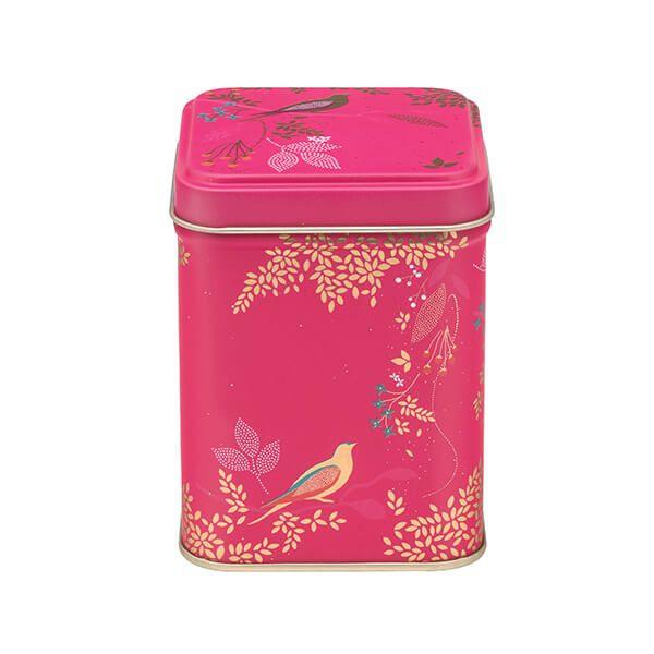 Sara Miller Pink Birds 100gm Square Tin