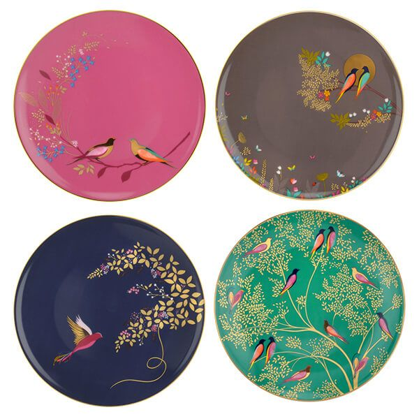 Sara Miller Chelsea Collection Set of 4 Cake Plates