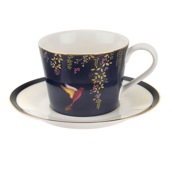 Sara Miller Chelsea Collection Navy Tea Cup & Saucer