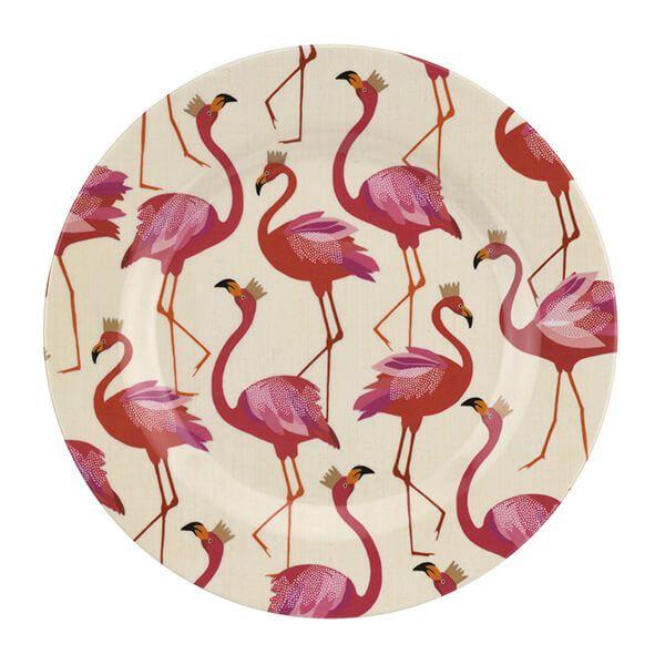 Sara Miller Flamingo 20cm Melamine Side Plate