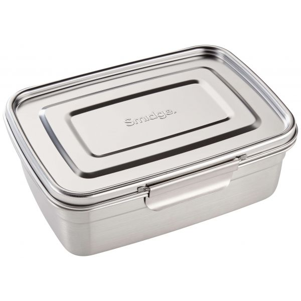 Smidge Stainless Steel Lunch Box with Divider 2.5L