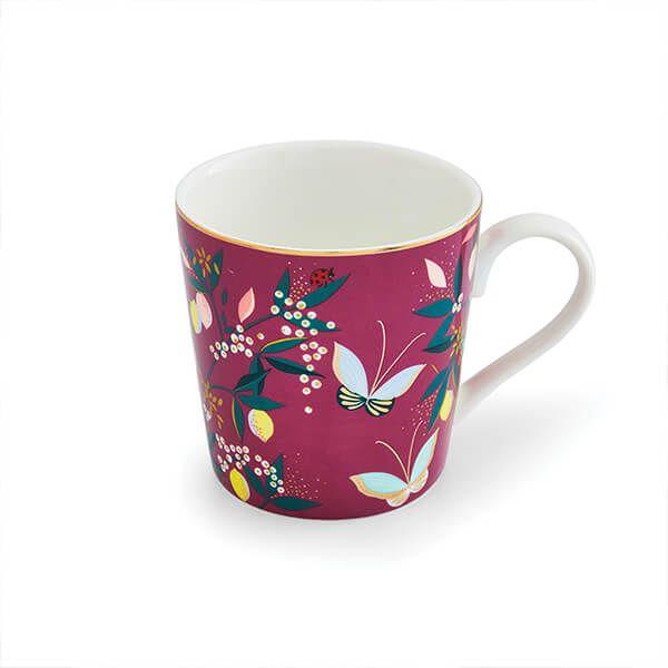Sara Miller Orchard Fuchsia Mug