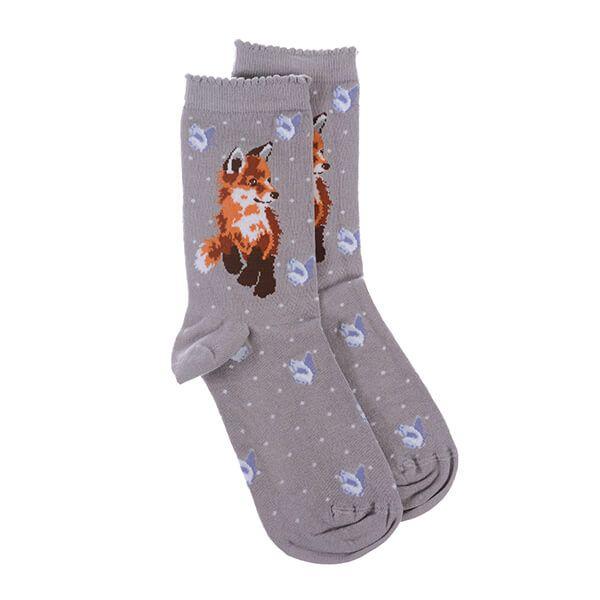 Wrendale Designs Born To Be Wild Fox Socks