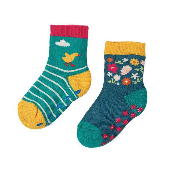 Frugi Organic Duck Multipack Grippy Socks 2 Pack
