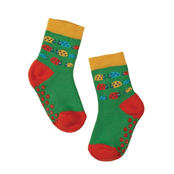 Frugi Organic Ladybird Multipack Grippy Socks 2 Pack