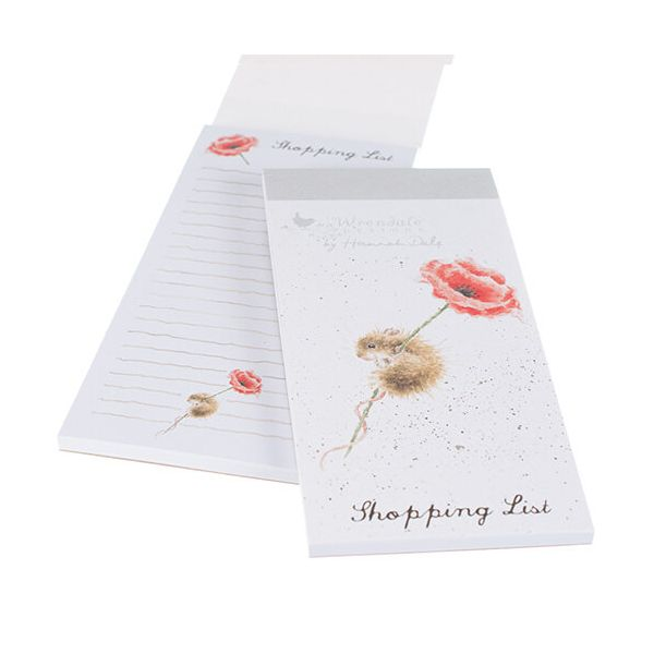 Wrendale Mouse And Poppy Shopping Pad