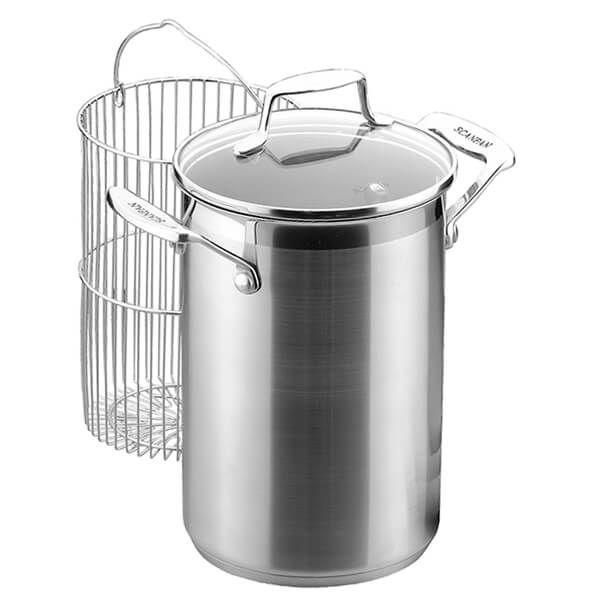 Scanpan Impact Corn/Asparagus/Hotdog Pot with Basket and Lid