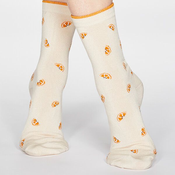 Thought Cream Rowena Fruit Socks