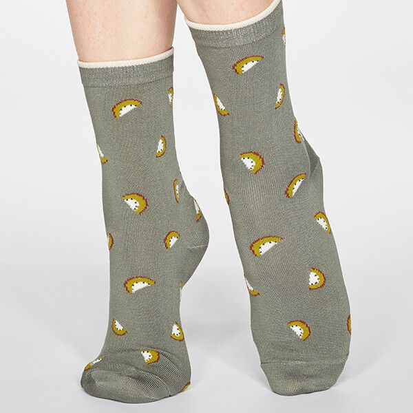 Thought Sage Green Rowena Fruit Socks