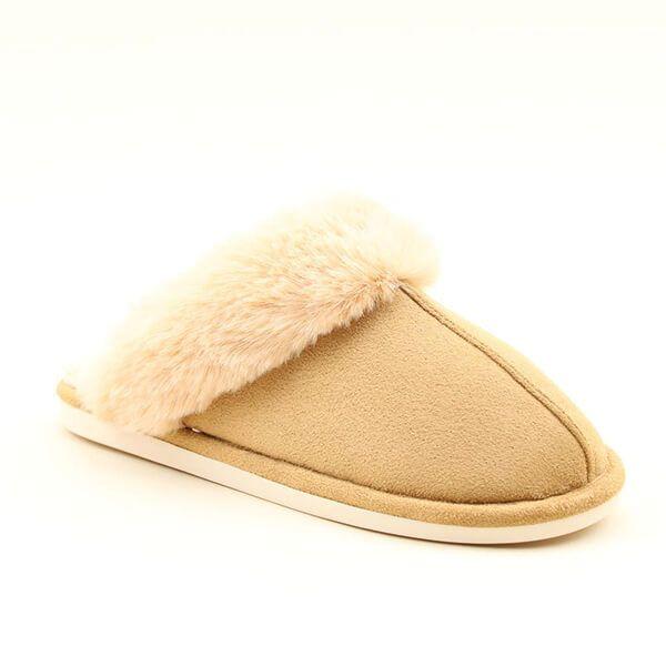 Heavenly Feet Fireside Beige Slippers