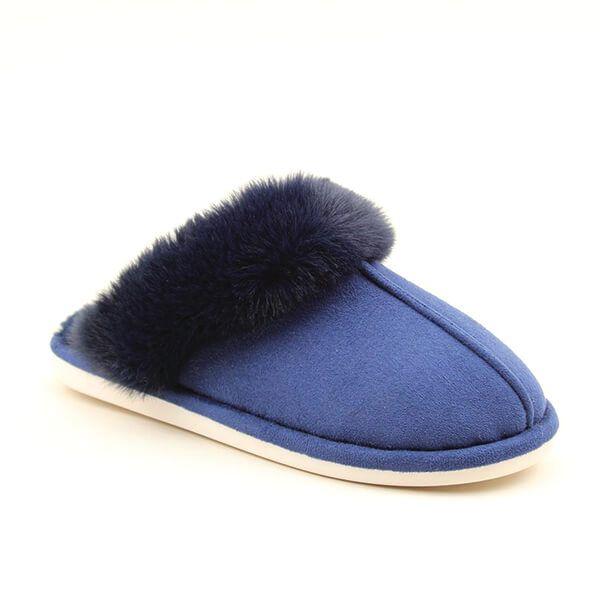 Heavenly Feet Fireside Navy Slippers