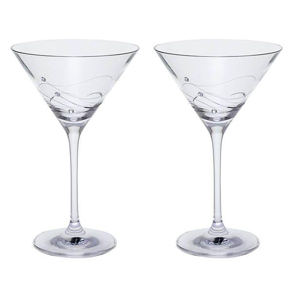 Dartington Glitz Set Of 2 Martini Glasses