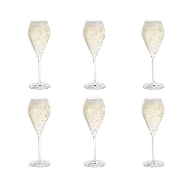 Dartington Six Prosecco Glasses