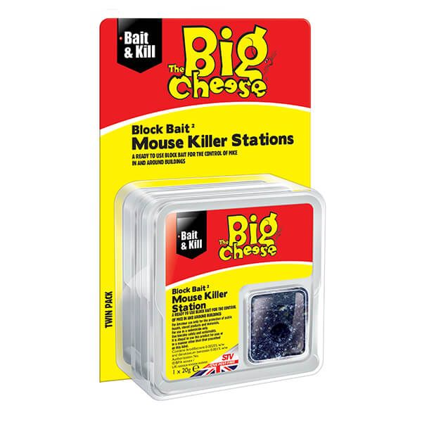 The Big Cheese All-Weather Block Bait 2 Mouse Killer Stations