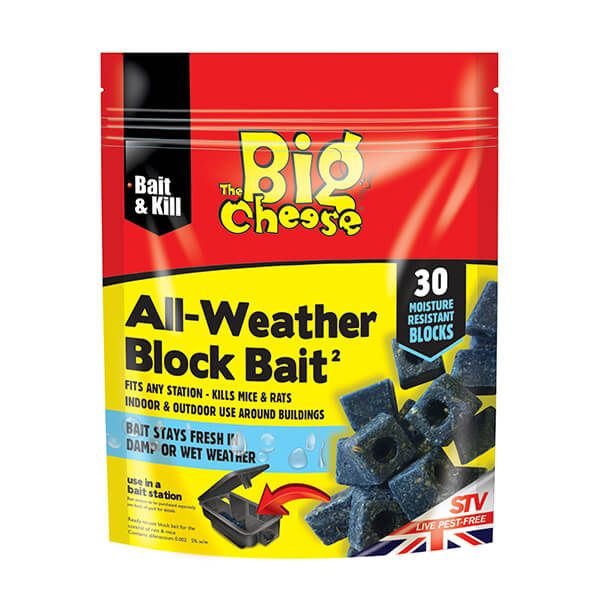 The Big Cheese All-Weather Block Bait Pack Of 30 x 10g
