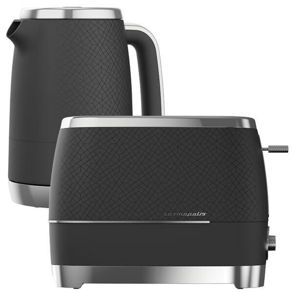 Beko Black & Chrome Cosmopolis Kettle And Toaster Set