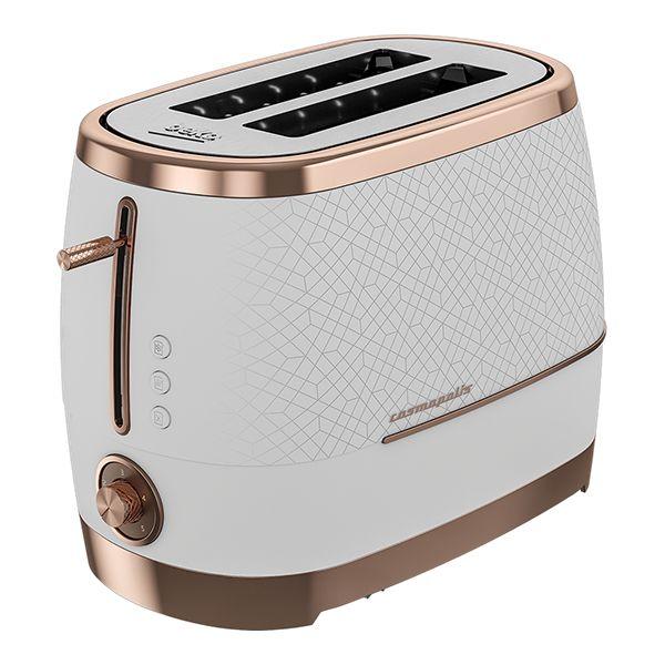 Beko White & Rose Gold Cosmopolis 2 Slot Toaster