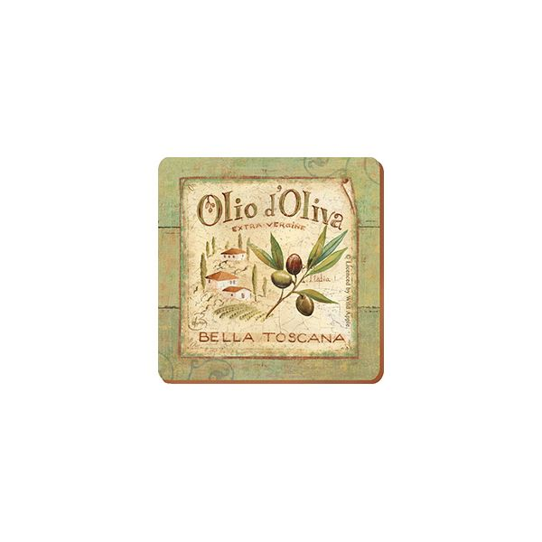 Olio D'Olivia Set Of 6 Coasters
