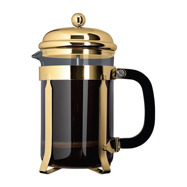 Grunwerg 3 Cup Cafe Ole Cafetiere Classic Gold Finish