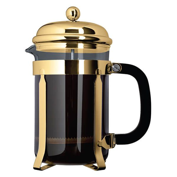 Grunwerg 8 Cup Cafe Ole Cafetiere Classic Gold Finish