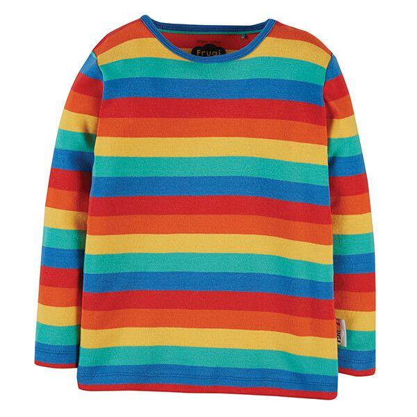 Frugi Organic Rainbow Stripe Favourite Long Sleeve Tee