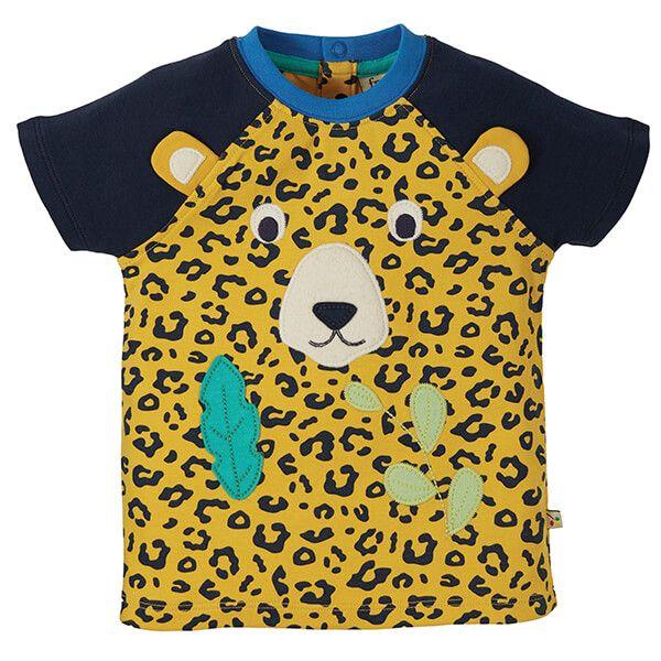 Frugi Organic Leopard Spot Happy Raglan T-Shirt