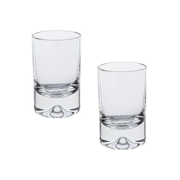 Dartington Dimple Lead Crystal Set Of 2 Shot Glasses